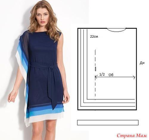 Выкройка быстрого платья