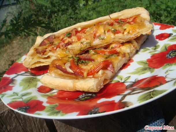 Пироги для пикника с разными начинками на домашнем слоеном тесте