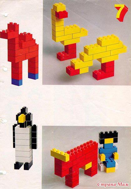 конструктора простые лего схемы