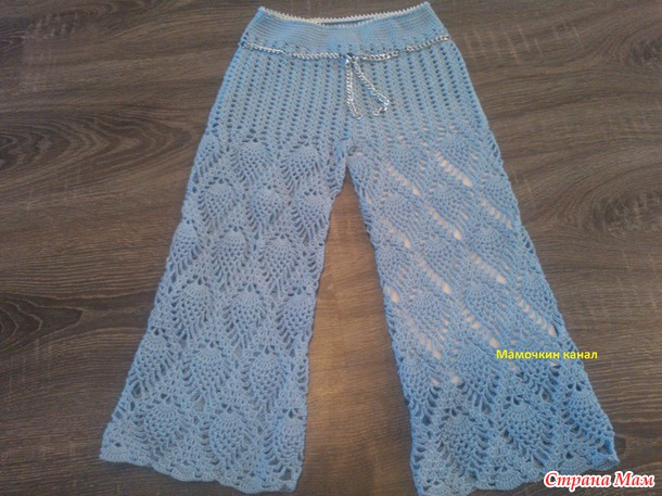 вязаные штанишки для девочек