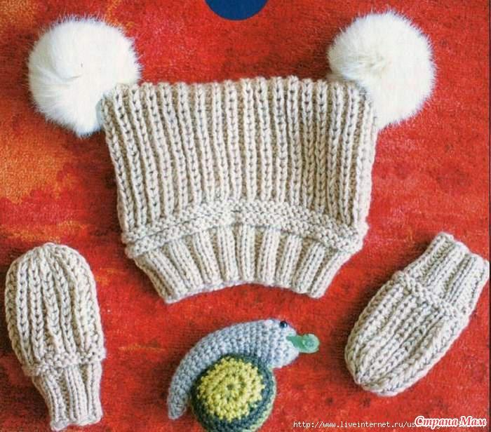 Lionzap Вязание спицами варежки для детей до года...