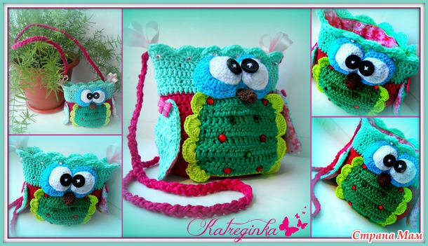 Схемы вязания сумки совы