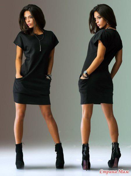 Платье черное прямое как сшить