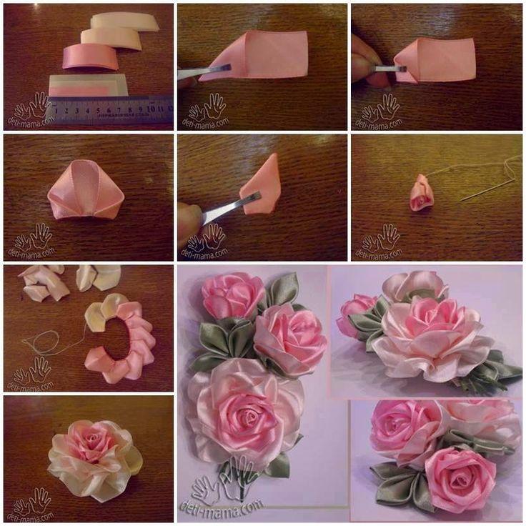 Как сделать цветы своими руками пошагово из