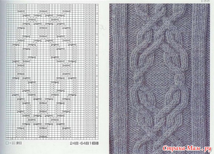 Вязание араны узоры 23