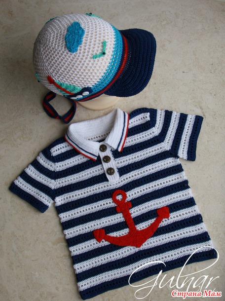 Морячок вязание крючком