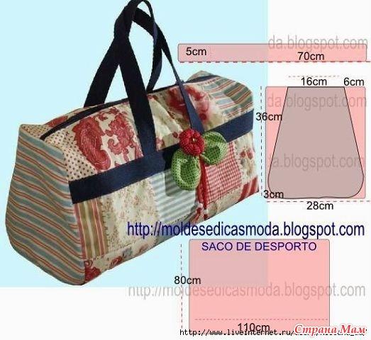 Выкройки дорожных сумок из ткани
