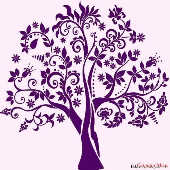 Трафарет дерево на стену своими руками