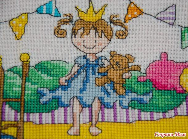 Вышивка принцесса на горошине