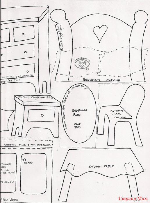 Кукольный домик из фетра выкройки и схемы