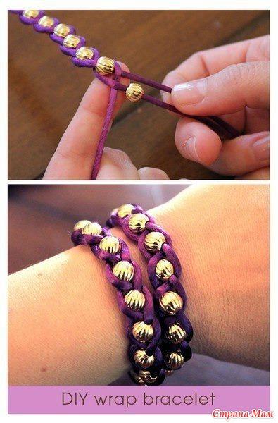 Как сделать браслеты из лент