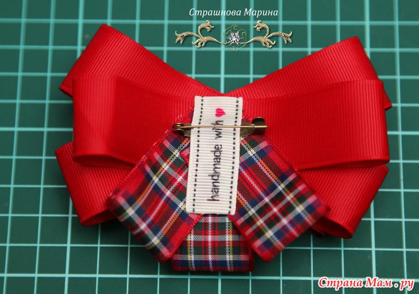 Как сделать галстук с лент
