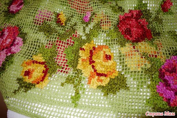 Схемы вышивки на филейной сетке