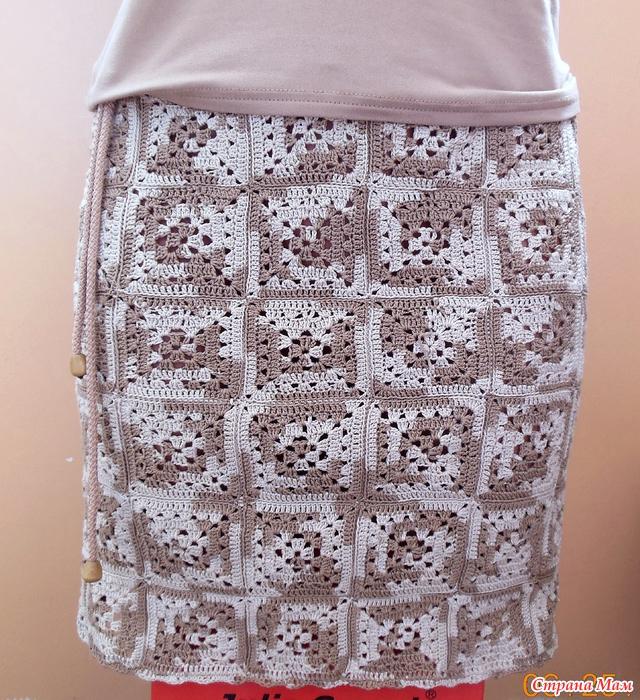 Летняя юбка крючком схемы и описание