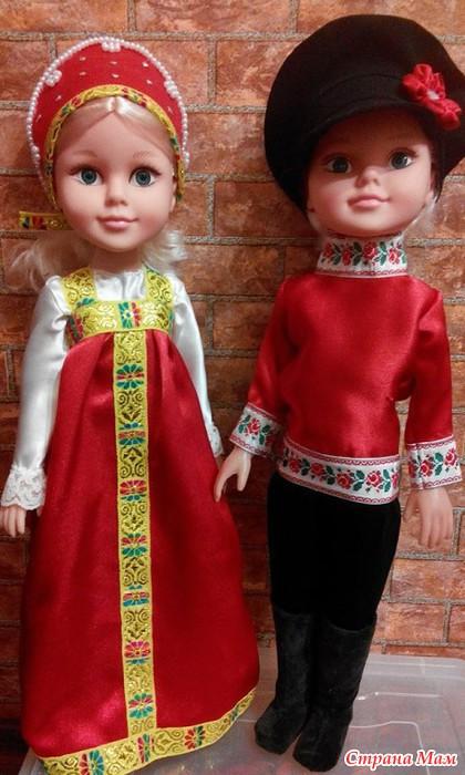 сшить куклу в русском стиле