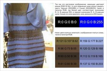 Что за прикол про платье какого оно цвета