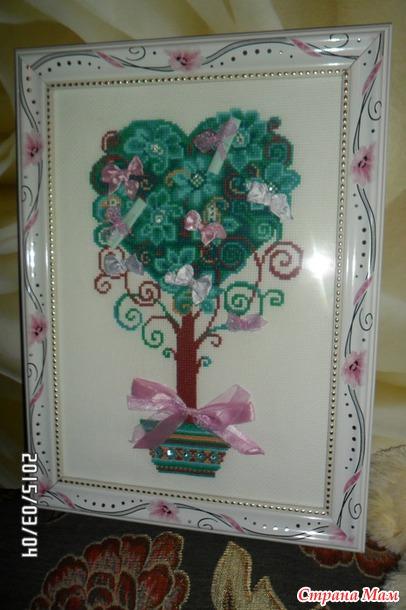 Дерево желаний схема для вышивки