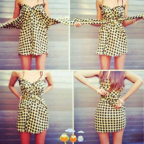 Как сделать из платья юбку в домашних условиях