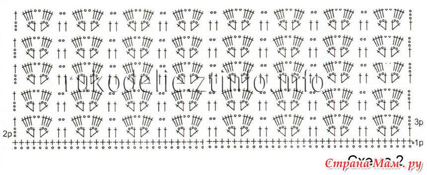 Вязание крючком узор полотна