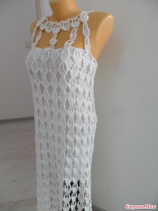 Платье крючком перо ангела