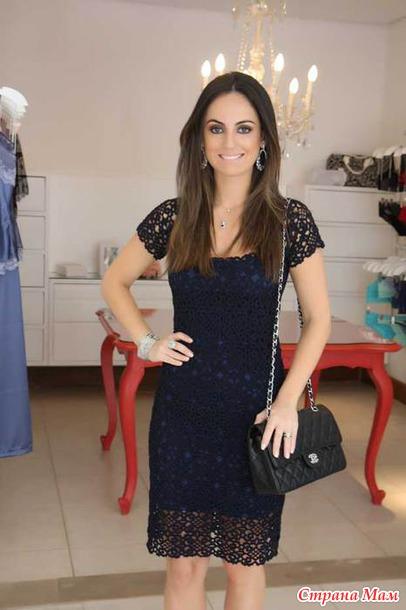 Платье крючком бразильянка