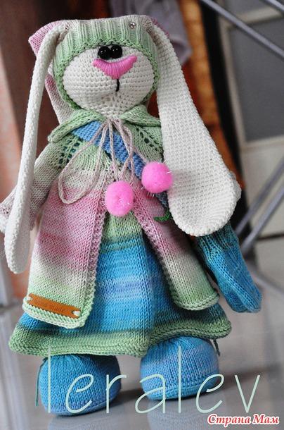 Вяжем для тильда зайца