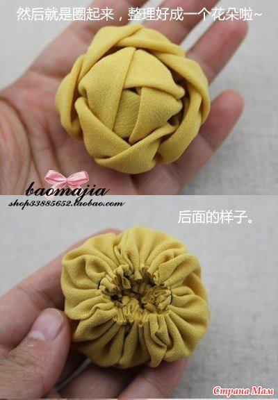 Цветы из ткани своими руками мк видео