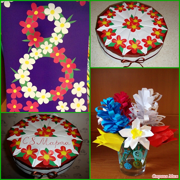 Как сделать подарок маме на 8 марта своими руками из бумаги