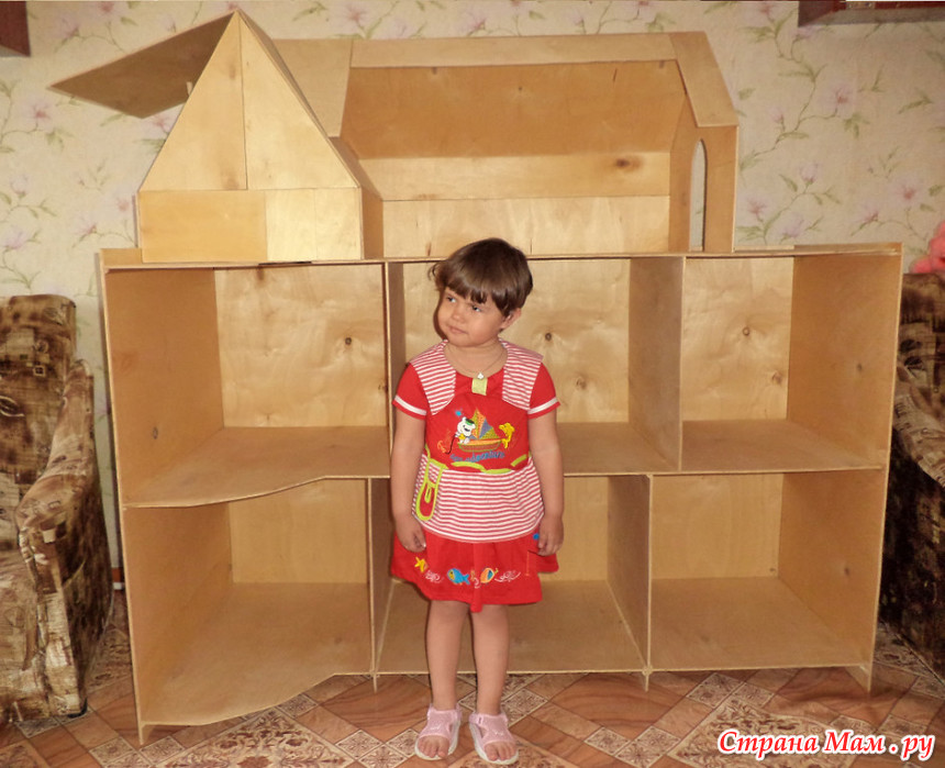 Детский домик для кукол из коробки 110
