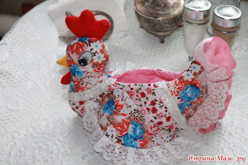 Пасхальная корзина из ткани мастер класс