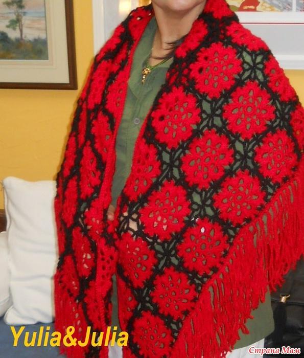Вязание красного с черным