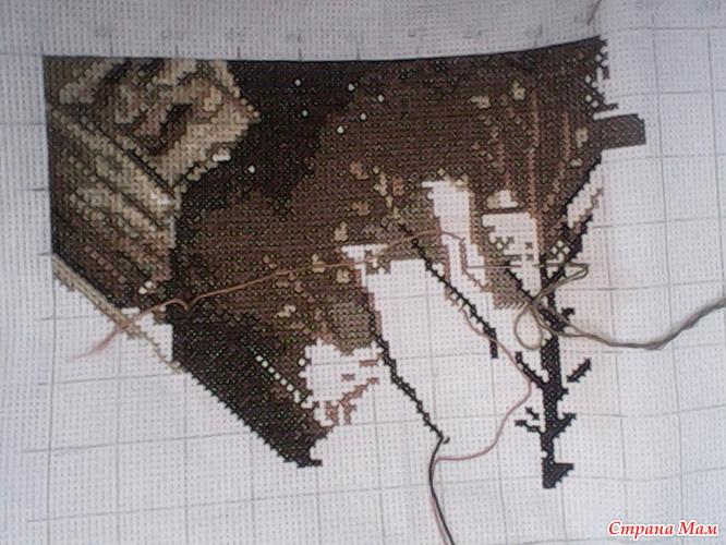 Схема для вышивки вечерние огни 155