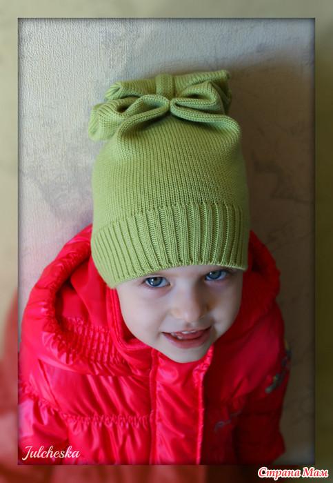 Вязание шапочки для девочки мк 840