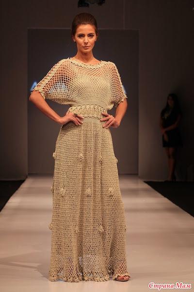"""Вяжем он-лайн платья """"Режина"""" (Katerine) от Alzira Vieira"""