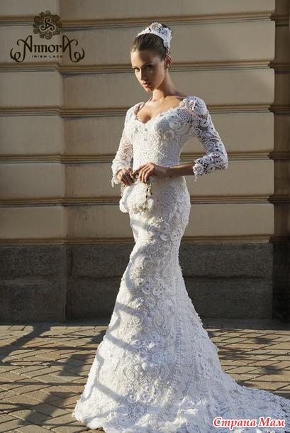 Свадебные платья из ирландских кружев