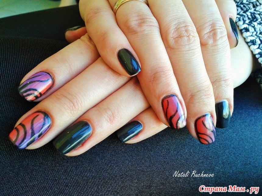 Ногти средней длины дизайн