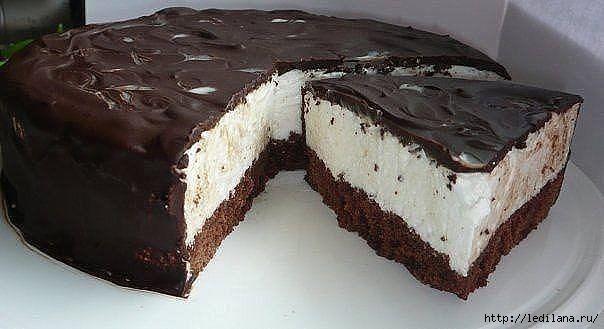 Быстрый торт. Птичье молоко