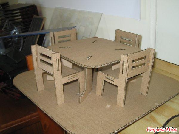 Мебель из картона для кукол схемы