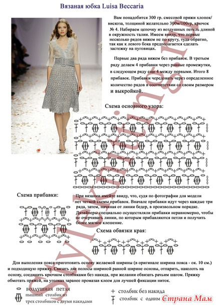 Вязание крючком для женщин юбки с описанием и схемами 34