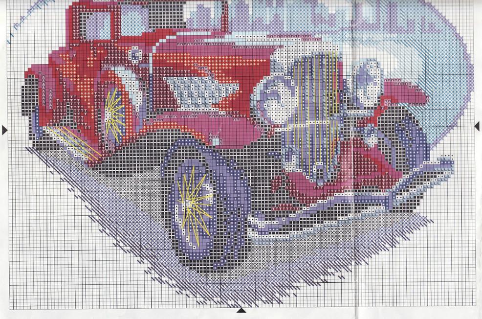 Автомобиль схема вышивки крестом 94