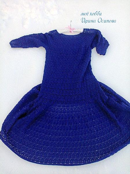 Платье крючком лилия схема