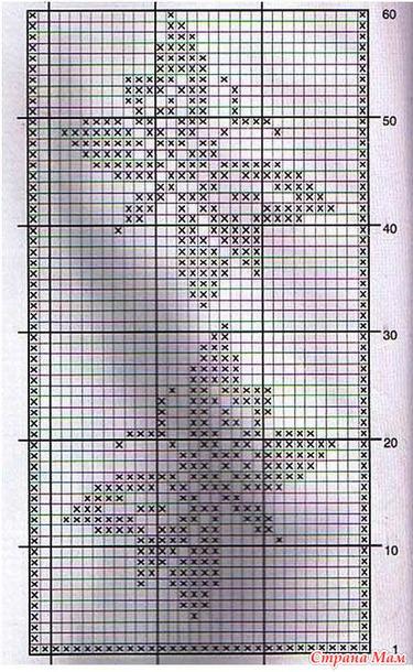 Филейное вязание схемы прямоугольных салфеток