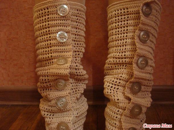 Вязание крючком подошвы для балеток 23