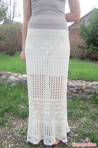 Юбка в пол вязание