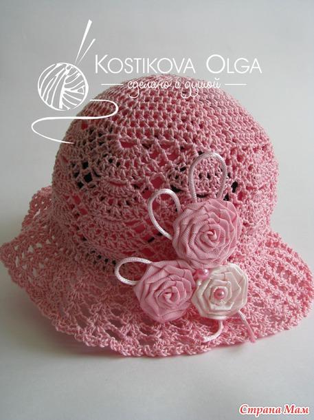 """Летняя шляпка """"beauty"""" (авторская ручная работа)"""