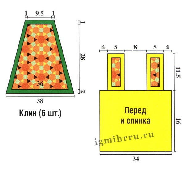 Яркий сарафан на лето для девочки( ткань+крючок)