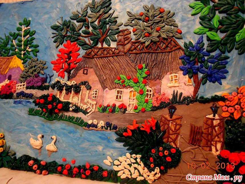 Картины из пластилина своими руками для детей