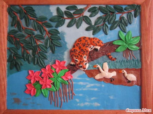 Картины из пластилина пошагово