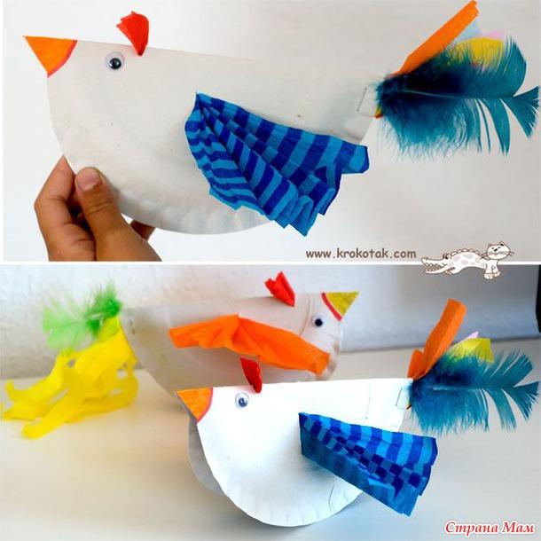 Поделки из бумаги птички с детьми