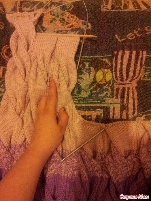 Вязание проймы кардигана лало